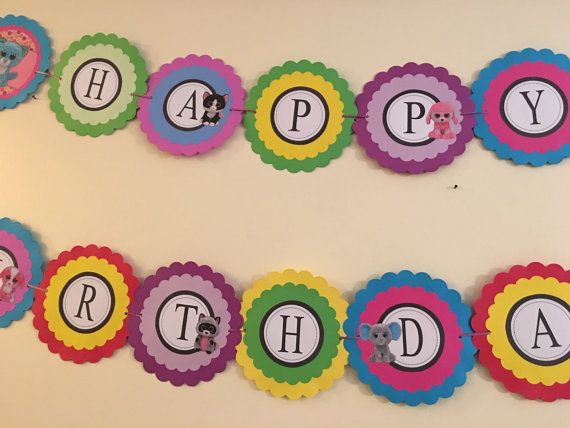 Beanie Boo Birthday banner Party by AivanCreations on Etsy