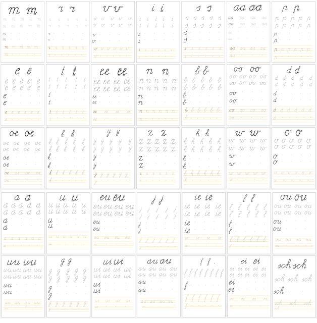 Miranda's lesmaterialen : letters oefenen op wisbordjes