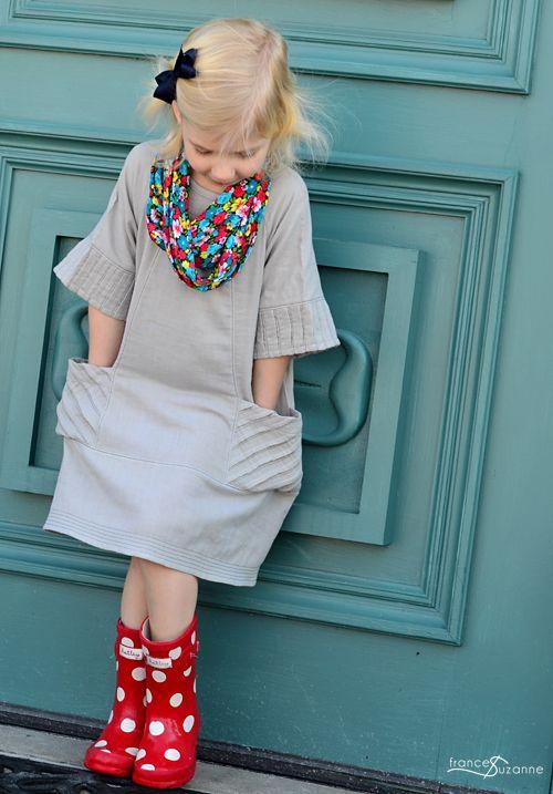 adding tucks to O+S dress pattern    Frances Suzanne