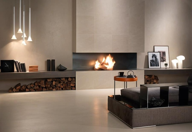 Lounge by Panaria ceramics featuring a Sissi cluster by Vistosi designed by Barbara Maggiolo