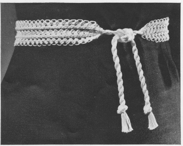 Vintage 1950's Hairpin Lace Belt Crochet Pattern, 1.00 Pattern Retro Accessories, Ladies Belt, Ladies Accessories, Spring and Summer by LammDigital on Etsy