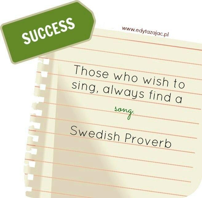 Sukces | Cytat dnia: znajdź swoją piosenkę
