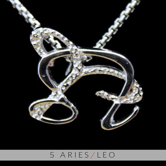 5 Aries and Leo Silver Unity Pendant by UnityDesignConcepts