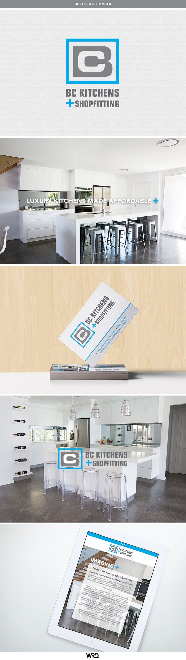 BC Kitchens & Shopfitting branding by WRD Www.whiteriverdesign.com