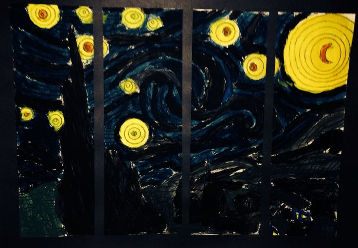 Starry Night - Vincent Van Gogh - Grade Three Painting