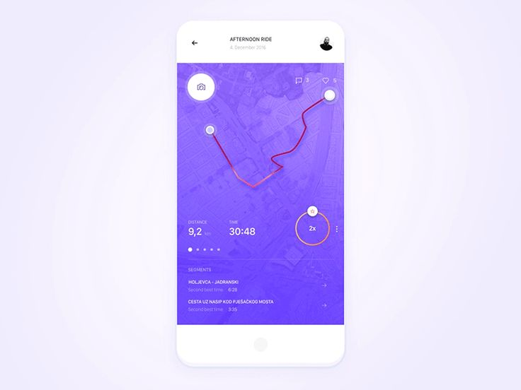 UI Interactions of the week #56  Activity Map Animation by Mario Šestak