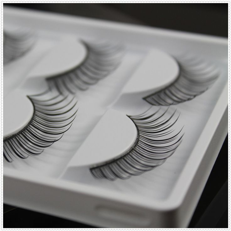 False eyelashes Professional nature long fake eye lashes nude makeup eyelashes extensions 5 pairs per pack W12 with model show
