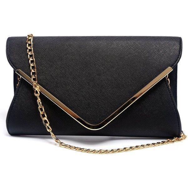 Amazon.com: Womens Faux Leather Clutch Purse Handbag Evening Envelope... (84 PEN) ❤ liked on Polyvore featuring bags, handbags, clutches, purse clutches, vegan purses, envelope clutch, evening bags and party clutches