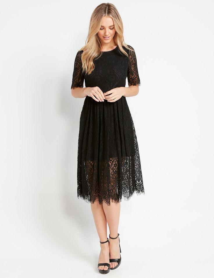 Luna Lace Midi Dress   Dotti