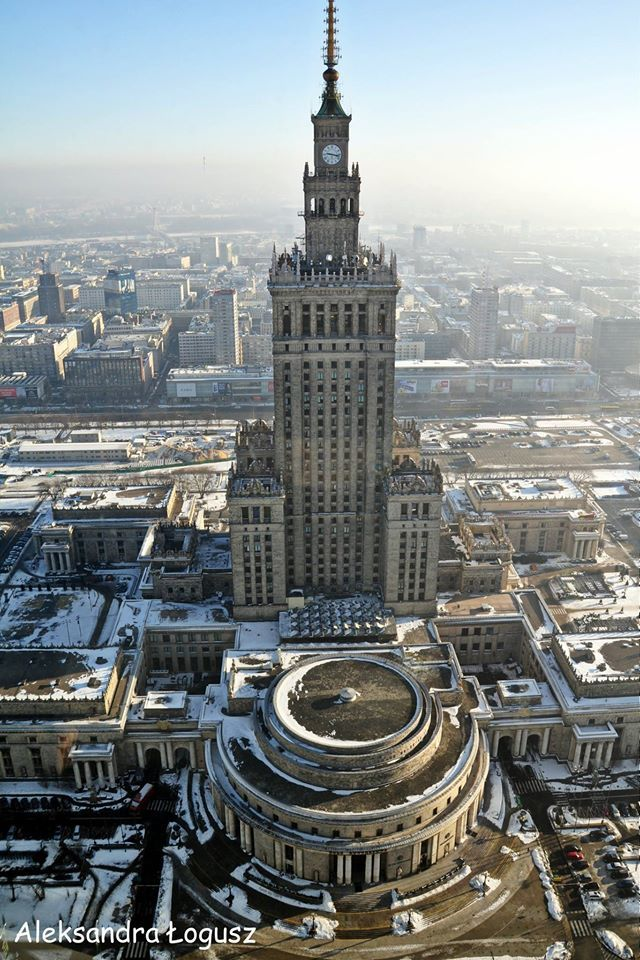 Warsaw, Poland in Winter