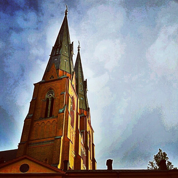 The towers of Uppsala.