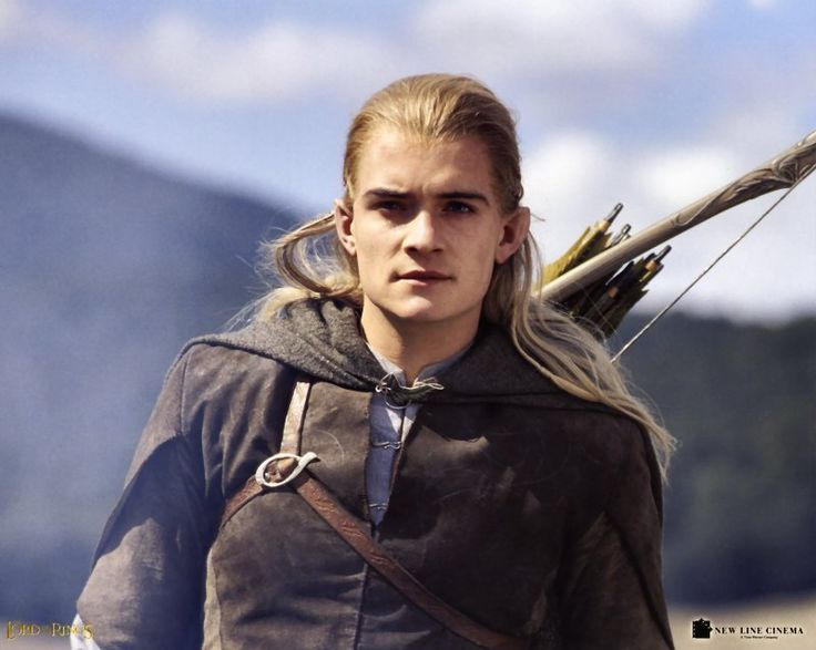 Blonde elf lord of the rings two towers