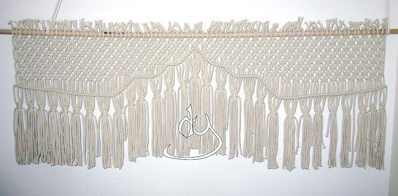 Macrame Natural Cotton Cord Wall Hanging