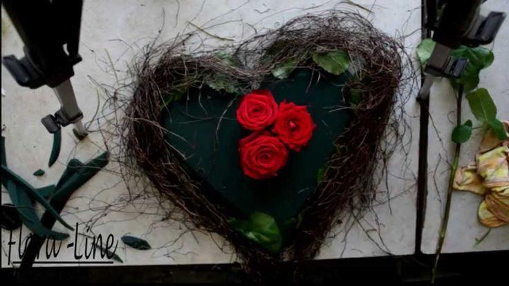 Erlerne das stecken eines Rosenherzes hier