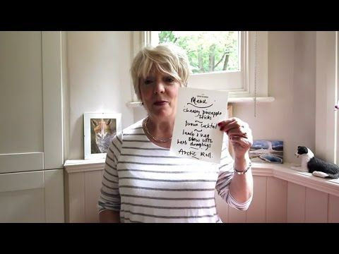 Alison Steadman's retro menu