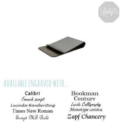 Looking for a money clip? Silver plated money clip £13.00 at www.rubyseurope.com