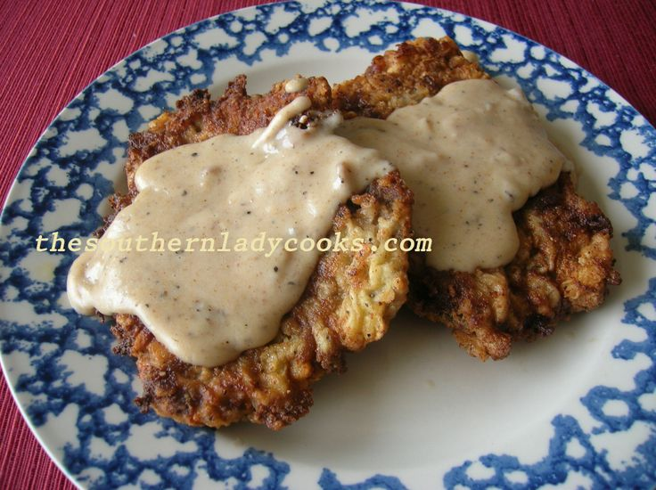 CHICKEN FRIED STEAK AND GRAVY4 to 6 cubed steaks 2 cups all-purpose flour 1 teaspoon salt 1 teaspoon black pepper 1/2 teaspoon garlic powder Pinch cayenne (Optional) 2 eggs 1/4 to 1/2 cup cooking oil (I use Canola) 1 1/2 cups milk