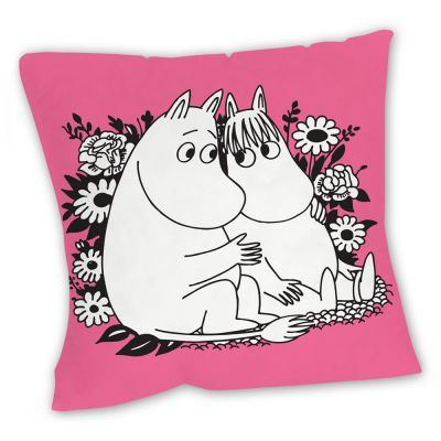 Pink Moomintroll and Snorkmaiden pillow case by Star Editions