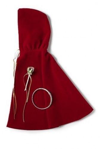 Red Velvet Doll Cloak, Crown and Flower Wand fits 46cm American Girl Dolls. Bran   eBay