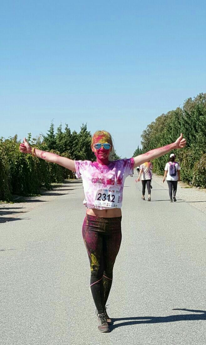 Colorfull, color sky 5k İzmir, run, 2312, smile, 5 km, pink, yellow, blue, black and white,...
