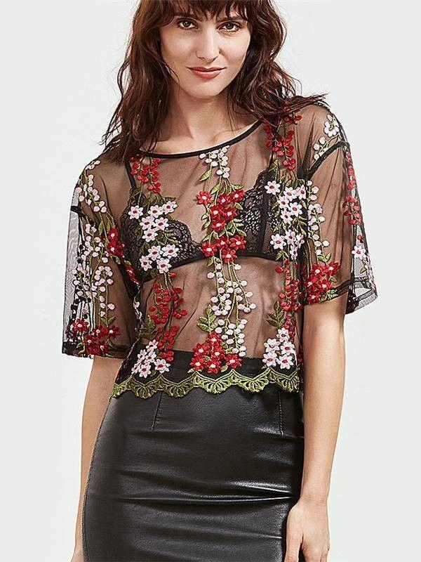 Blusa em Tule Bordado - Compre Online | DMS Boutique