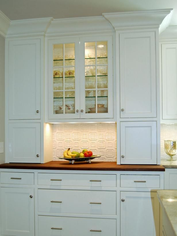 Functional Storage   Transitional White Kitchen On HGTV Put The Coffee  Station In The Open Space With Coffee Supplies In Cabinets On Both Sides