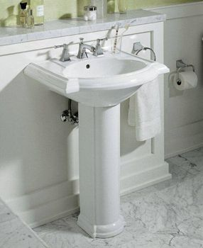 pedestal sink for the powder room Home Sweet Home
