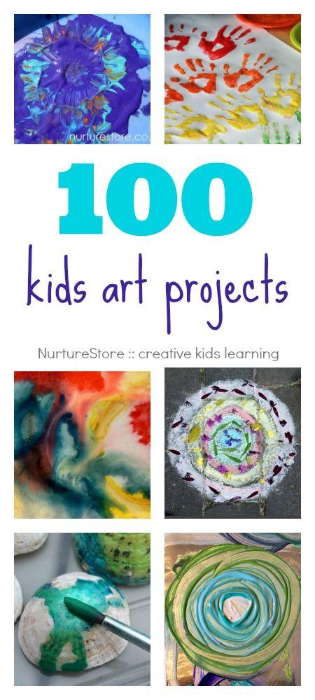 100 kids art projects - NurtureStore