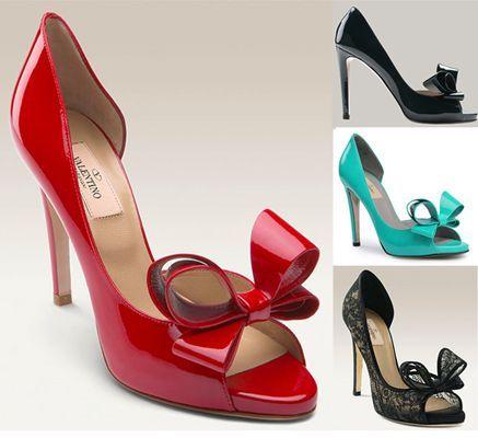 Valentino shoes - more → http://fashiondesigningcatherine.blogspot.com/2012/08/valentino-shoes.html