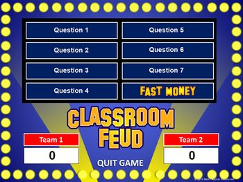"""Create """"Family Feud"""" style review games with this PowerPoint template!"""