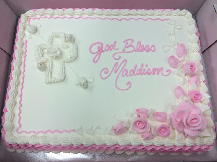 Baby girl baptism cake                                                                                                                                                      More