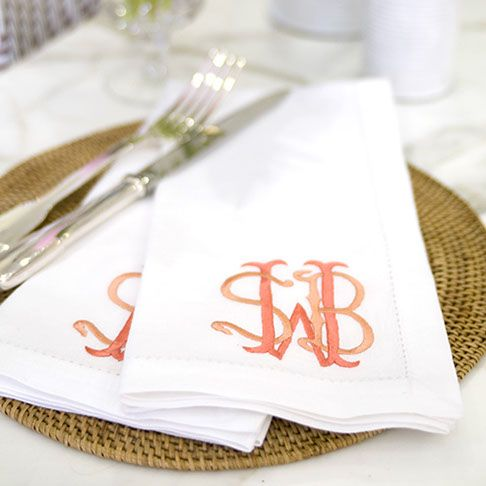 Dinner Napkins, Monogram Styles, Tabletop, Monogram Letters, Valentines,  Bed, House, Friends Thanksgiving, Dinners