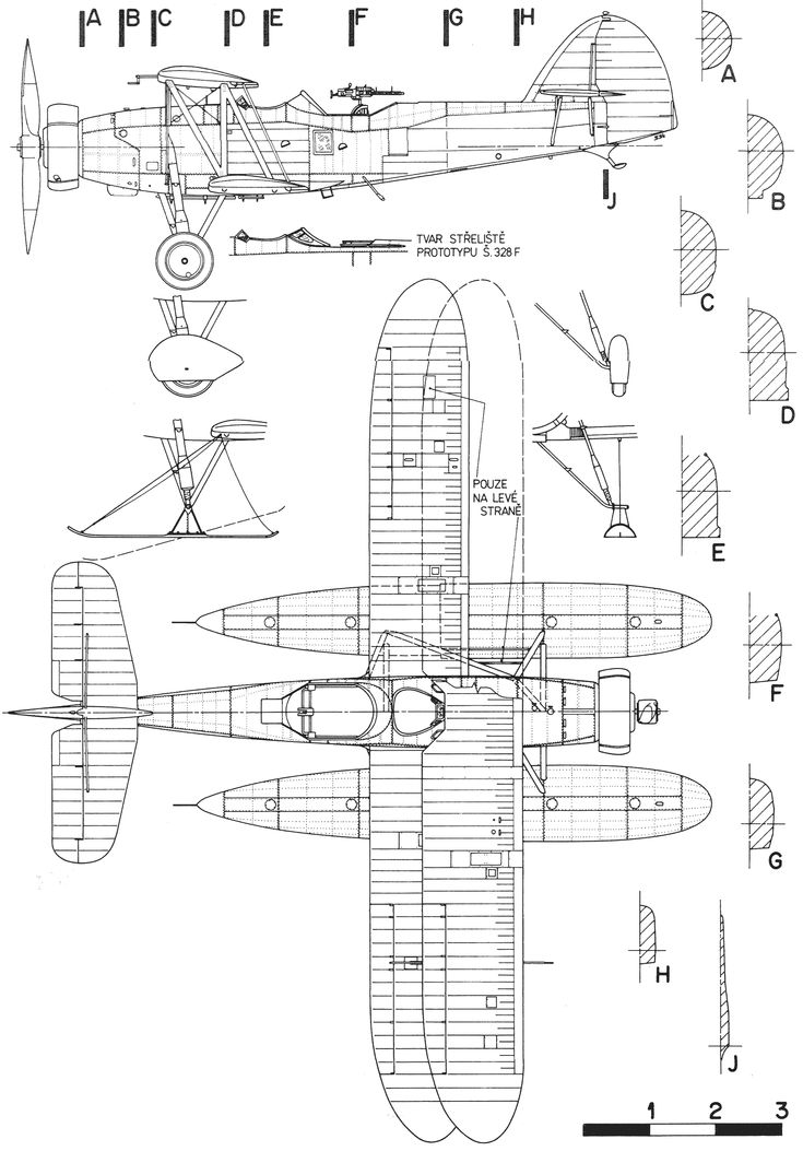 109 best blueprints images on pinterest aircraft airplane and letov s328 blueprint malvernweather Choice Image