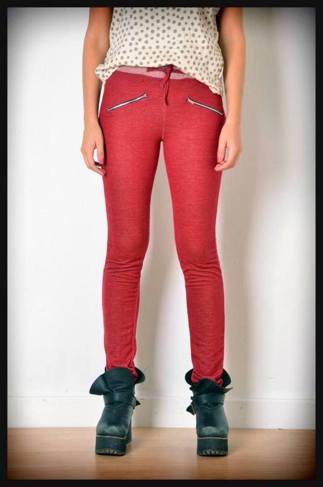 calza pantalon rustico rojo