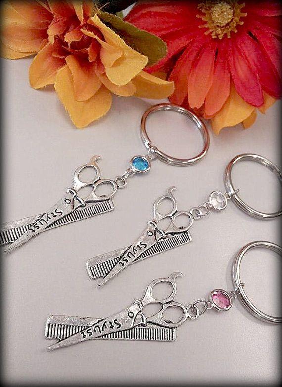 Hair Stylist Scissor and Comb Charm Keychain by ShearStyleJewelry, $10.00