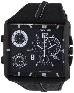 POLICE - Montre Homme - Quartz Chronographe - Chronomètre - Bracelet Cuir Noir