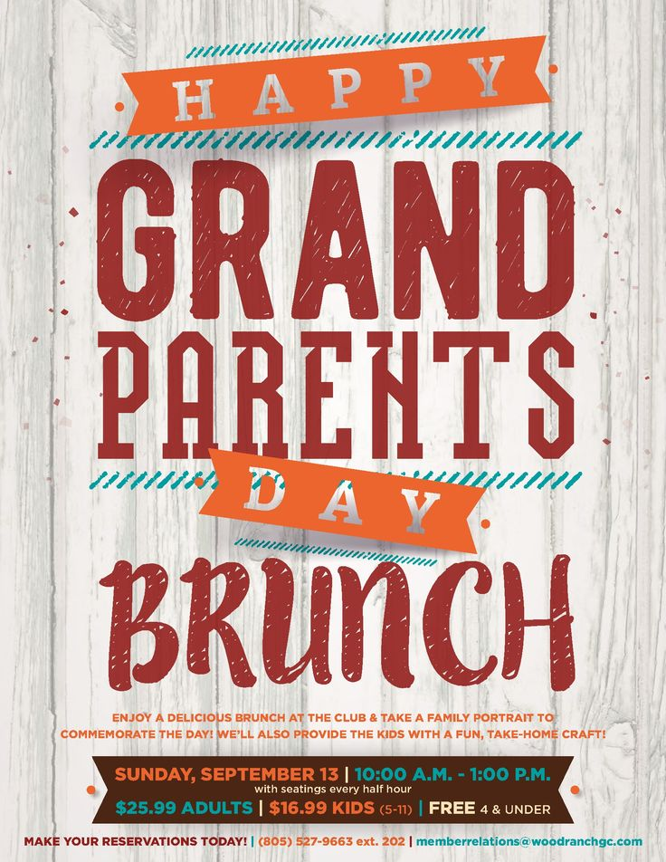 grandparents day brunch flyer poster template