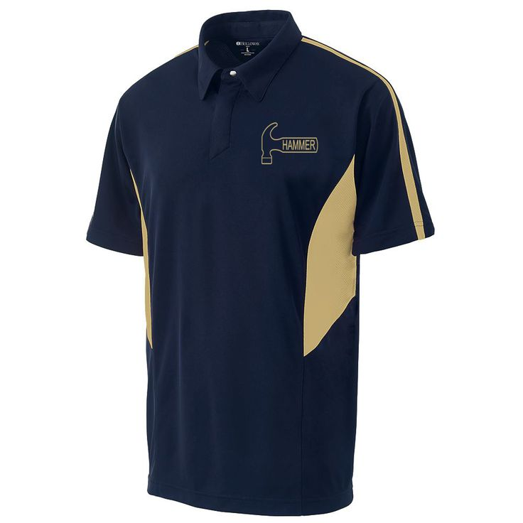 Men 159101: Hammer Men S Diesel Performance Polo Bowling Shirt Dri-Fit Navy Gold -> BUY IT NOW ONLY: $49.95 on eBay!