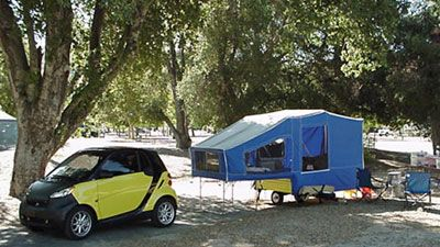 smart pop up tent... low gas mileage and can be pulled by ...