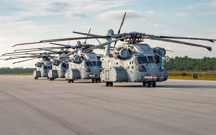 Lataa kuva Sikorsky CH-53K, Kuningas Ori, Sotilaallisen rahdin helikopteri, American helikopterit, liikenne helikopteri, USA