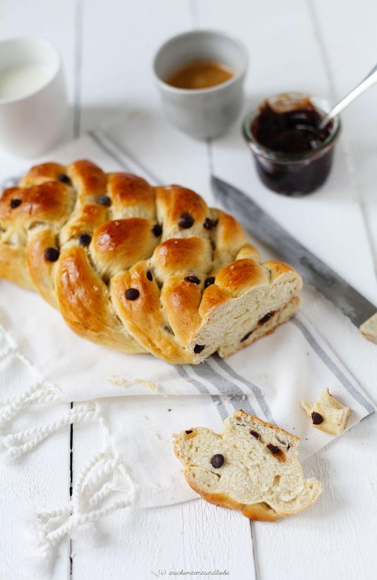 Brioche Bananen Schokoladen Brioche // Schokoladen-Bananen-Brot // Süsses Brot Hefe