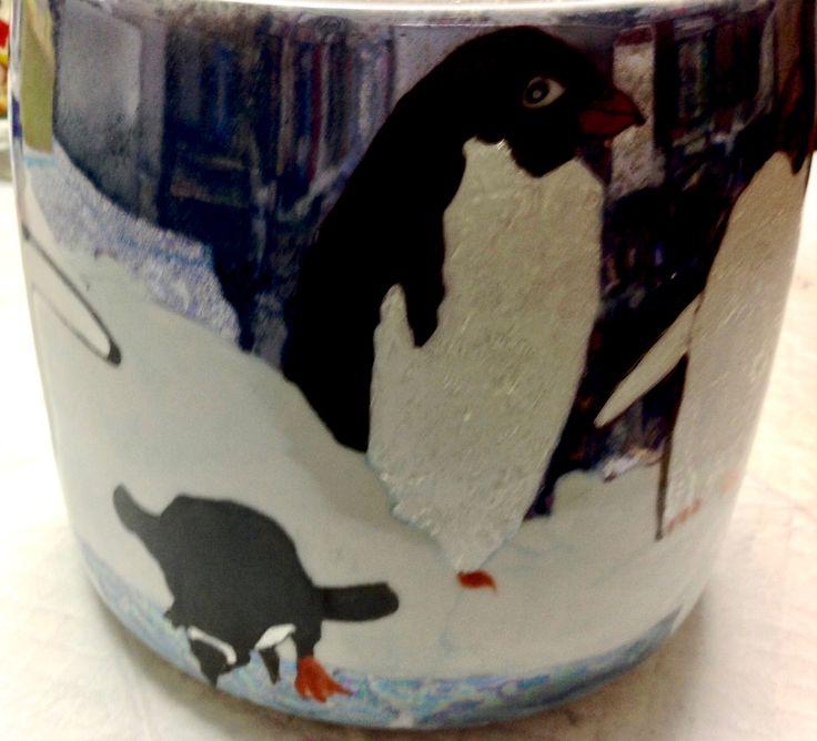 Penguins on a Cookie Jar by Jillian Varga 2017.