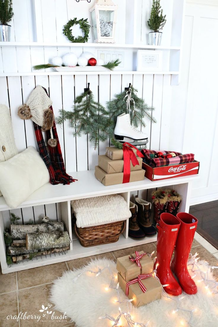 best 25 christmas entryway ideas only on pinterest french craftberry bush christmas home tour part 2 bowl of snow balls