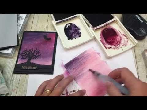 How to make a Halloween Night Sky Card - YouTube
