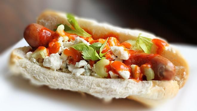Buffalo Chicken Hot Dogs | Written by Dax Phillips of Simple Comfort Food | Published June 25, 2014 | FoxNews.com