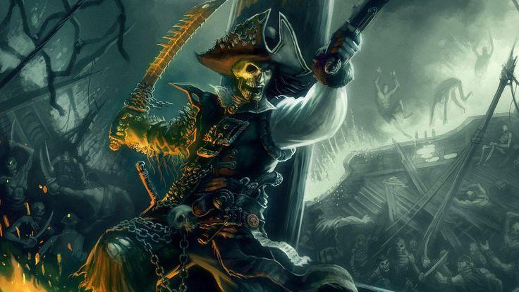 Fantasy Skull Pirate Wallpaper