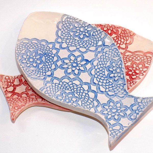 Handmade Ceramics Tableware Fish Plate Dale. Handbuilt creations. Χειροποίητα Κεραμικά από το εργαστήρι μας. 100% Handmade for...You!