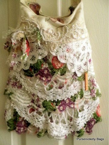 Gypsy Bag large Shabby Chic bag soft thick by PursenicketyBags, $85.00