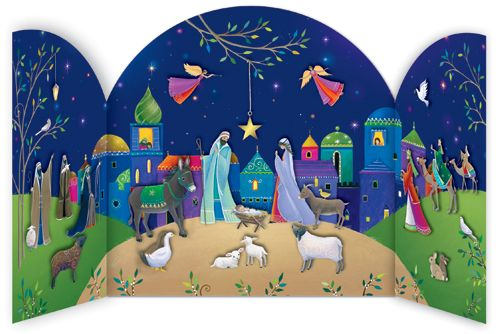 Create this stunning Nativity scene by slotting a new character into our Bethlehem Advent Calendar every day.