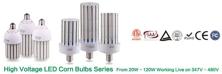 347v 480 Volt Ac Led Corn Lights Led Corn Light Bulbs Led Lighting Solutions Led Led Lights